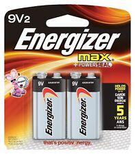 2 Energizer Max 9 Volt 9v alkaline Batteries 2022