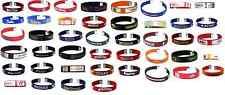 Ncaa Collegiate Team Color Fan Band Ribbon Bracelets - Pick your team!
