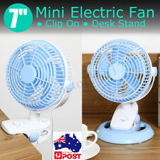 Clip On Mini Electric Cooling Fan Portable Small Table Desk Oscillating 5V 20W
