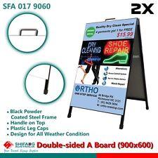 2x Frame Sign/A Board /Metal Sandwich board Double Roadside signage
