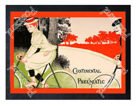 Historic Continental Bicycle Tyres Advertising Postcard