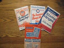 lot of 4 pre folded stamp hinges all open unchecked