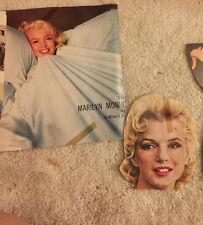 Marylin Monroe Movie Star 1950'2 Magazine Clippings  Color  Movie