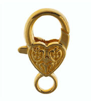Alloy Loveheart Lobster Clasp Claw For Bracelet Necklace Jewelry Findings 10Pcs