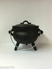 Cast Iron Cauldron With Lid and Handle ~ Pagan ~ Wicca ~ Altar ~ Ritual ~ Spells