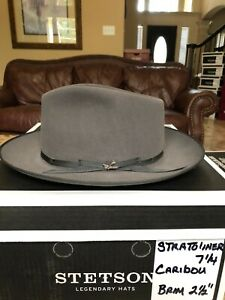 "STETSON ""STRATOLINER"" CARIBOU 7 1/4 CLASSIC FEDORA!"