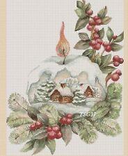 Cross Stitch Chart-Christmas Snow Globe-Nº 386.TSG37