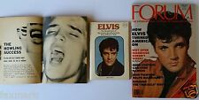 """""""Elvis"""" Booklet and Two """"Elvis"""" Articles - 1956 - 1977 - 1978..."""