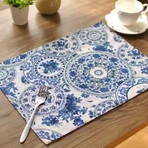 Table Mats Tableware Mats Pads Double Thick Table Cotton Orchid Cloth Placemat