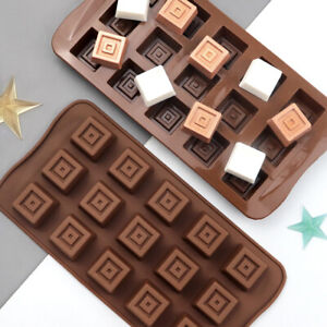 Silicone Square Candy Soap Chocolate Mould Cake Wax Melt Icing Mold DIY 15 Cells
