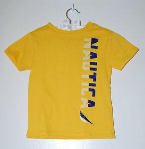 NWT Nautica Toddler Boys Citrus Yellow Short Sleeve Logo T-Shirt sz 3T