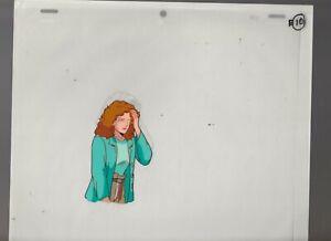 "X-MEN Cartoon Animation 10.5x9.5"" Cel & Drawing KITTY PRIDE Control Desk E-10"