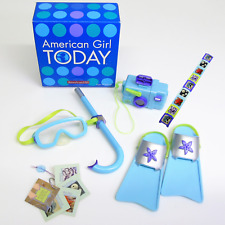 American Girl Today Doll KAILEY'S SNORKEL SET Camera Mask Fins Film Guidbook BOX
