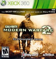 Xbox 360 Call of Duty Modern Warfare 2 Cliffhanger Demo VideoGames