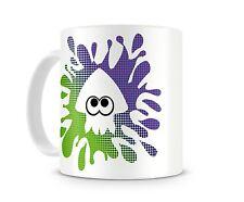 SQUID SPLAT GREEN PURPLE MUG - Cup 11oz Coffee Splatoon Paint Novelty Geek Gamer