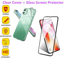 Full Protect Tempered Glass Screen Cover + TPU Case For iPhone 11 Pro XR 7+ XS 6