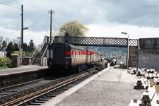 PHOTO  1973 GNR(B) BUILT DMU ENTERING LAMBEG RAIWLAY STATION DURING A PERIOD OF