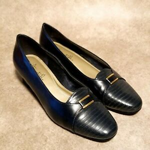 Soft Style Womens Gem IV H73283 Sz 8 M Blue Slip On Pumps Dress Heels
