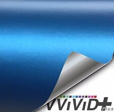 Vvivid+ Matte Metallic Blue Ghost Particle Vinyl Wrap Film Roll You Choose Size