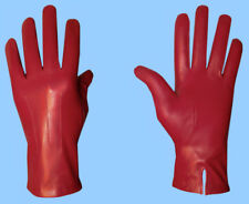 NEW MENS size 8 - S GENUINE RED LAMBSKIN LEATHER DRESS GLOVES with SILK LINING