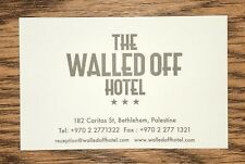 Banksy The Walled Off Hotel Bethlehem VIP Business Card Mint Kaws Obey Faile MBW