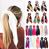 New Scrunchie Hair Tie Scarf Rope Bow Solid Floral Elastic Hair Band Accessories