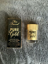 New 100% Authentic Too Faced Pure Gold - Face & Body Glitter 2g