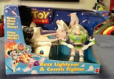 "Disney 1998 Thinkway Toys Toy Story 5"" Buzz Lightyear & Cosmic Fighter NIB"