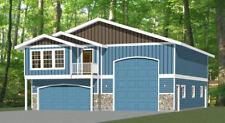 40x48 Apartment with 2-Car 1-RV Garage - PDF FloorPlan - 1,410 sqft - Model 2A