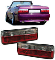 PAIR OF CLEAR & RED REAR BACK LIGHTS FOR BMW E30 3 SERIES SALOON & CONVERTIBLE