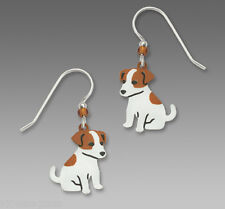 Sienna Sky Jack Russell Terrier Earrings Sterling Silver Dangle Puppy Dog + Box