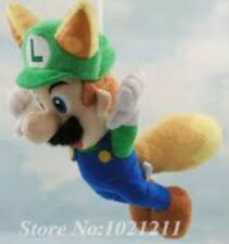 SUPER MARIO BROS. LUIGI VOLPE PELUCHE 23Cm - Plush Raccoon Fox Tanooki 3D World