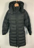 WOMENS BERGHAUS SIZE UK 10 BLACK CASUAL WINTER DOWN PADDED RAINCOAT HOOD JACKET