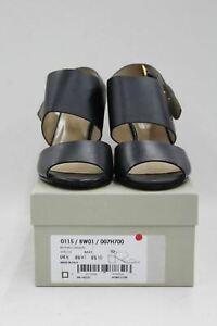 HOBBS Ladies Navy Blue Leather Open Toe High Heel Bethan Sandals UK8 BNIB