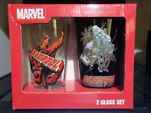Deadpool Pint Glass Set PX Exclusive Geoff Darrow Marvel Comics