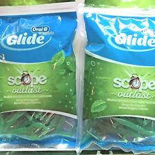 Oral-B Glide Dental Floss Picks w/ Scope 2 Resealable bags 75 ct  Flossers