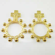 Pack of 50 Gold Tone Catholic Anello Preghiera Finger Decade Rosary Rings