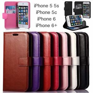 iPhone 5 5s 5c SE iPhone 6 6s 6 plus 6s plus leather stand case wallet holder
