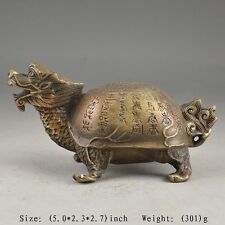 Beautiful Chinese myths and legends of the old copper dragon turtle statue