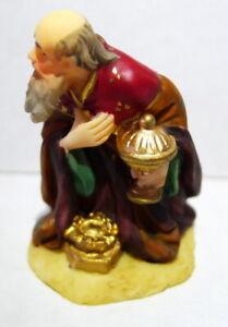 Grandeur Noel Bethlehem Village Bowing Wise Man with Gift Nativity Figure 2001