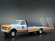 1967 67  CHEVY CHEVROLET C30 RAMP TRUCK GULF RACING 1:64 SCALE DIECAST MODEL CAR