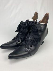 """Ellie Womens 301-Abigail Black Witch Pumps 3"""" Heels Shoes Size 8"""