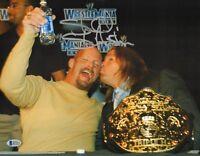 Stone Cold Steve Austin Signed WWE 11x14 Photo BAS Beckett COA HHH Picture Auto