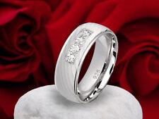 Verlobungsring Antragsring Silberring 925 mit 4 Zirkonia Ring Gravur GrSE45