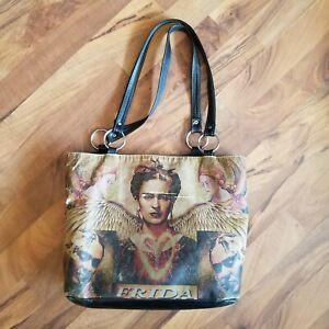 FRIDA KAHLO Brown Large Satchel Messenger Bag LZ