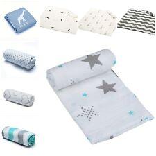 100% Muslin Organic Cotton Blanket Newborn Infant Swaddle Baby Soft  Wrap Towel