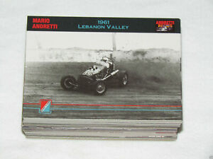 1992 COLLECT-A-CARD ANDRETTI RACING Complete Trading Card Set #1-100 Mario John+