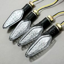 4x 10mm Motorcycle LED Turn Signal Indicators Blinker Lights for Yamaha YZF600R