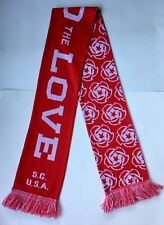 Portland Thorns MLS Spread The love Red White Soccer Scarf Women's