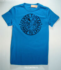 American Eagle Mens Blue Made to Last Flocked Graphic T Shirt XL NWT